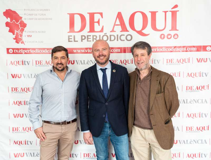Pere Valenciano, Toni Gaspar, y Vicent Climent. EPDA