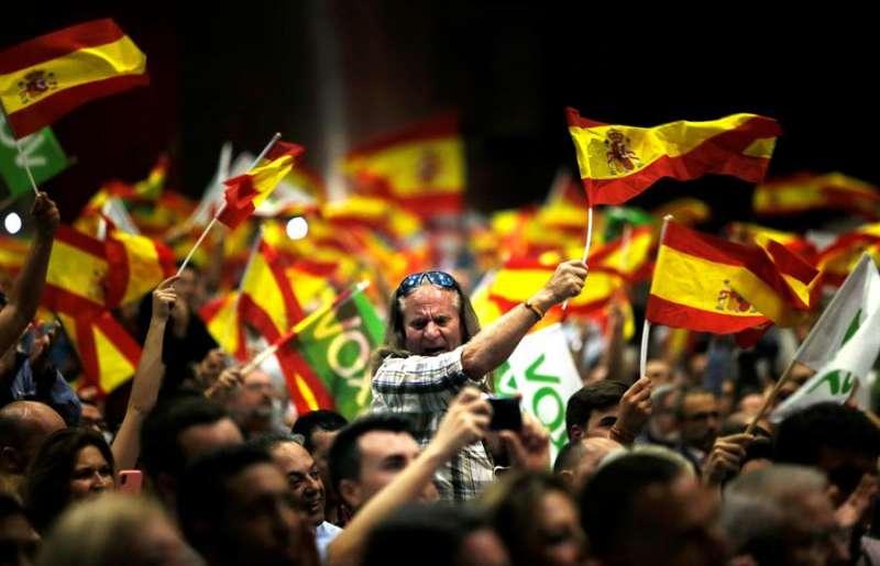 Público asistente a un acto de Vox. EFE/Manuel Lorenzo/Archivo