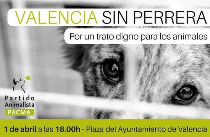 Convocatoria animalista de Valencia. EPDA