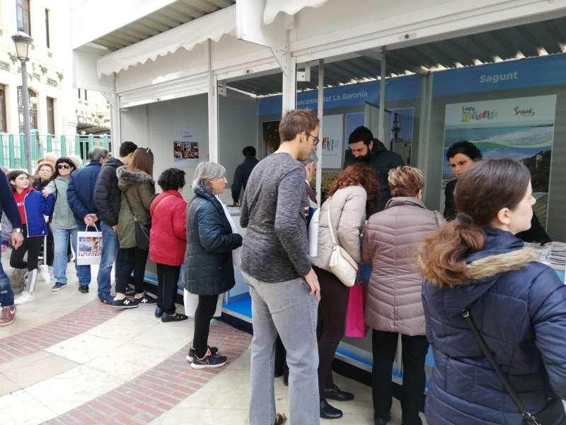 Expositor de Sagunt en la VII Feria de Turismo de las Comarcas Valencianas. EPDA