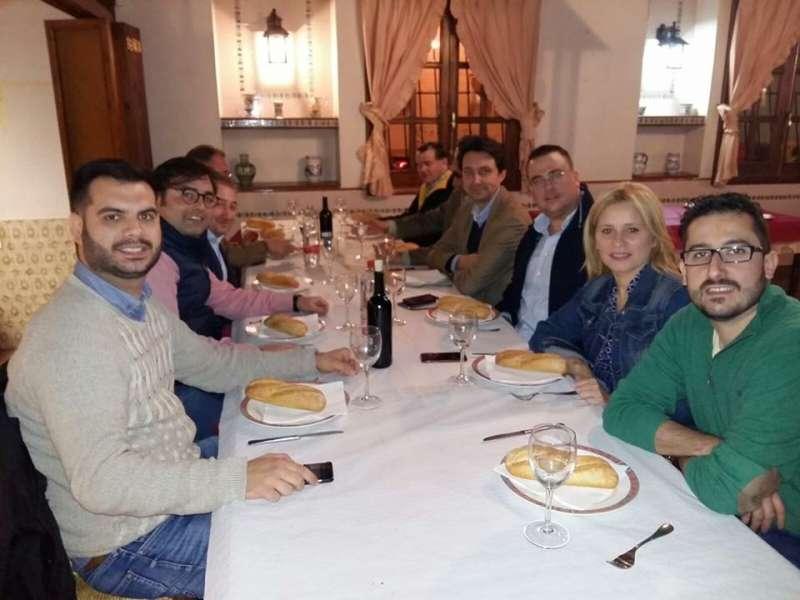 Diputados provinciales y alcaldes del PP de la comarca de l