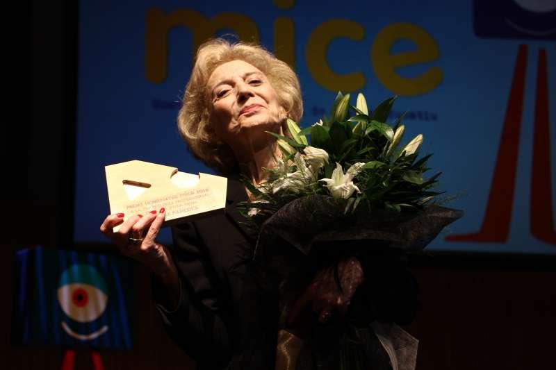 Marisa Paredes, extasiada. FOTO INÉS FERRER