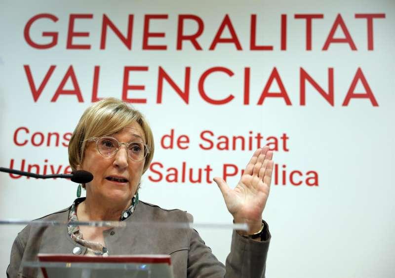 La consellera de Sanitat Universal, Ana Barceló, durante una rueda de prensa.