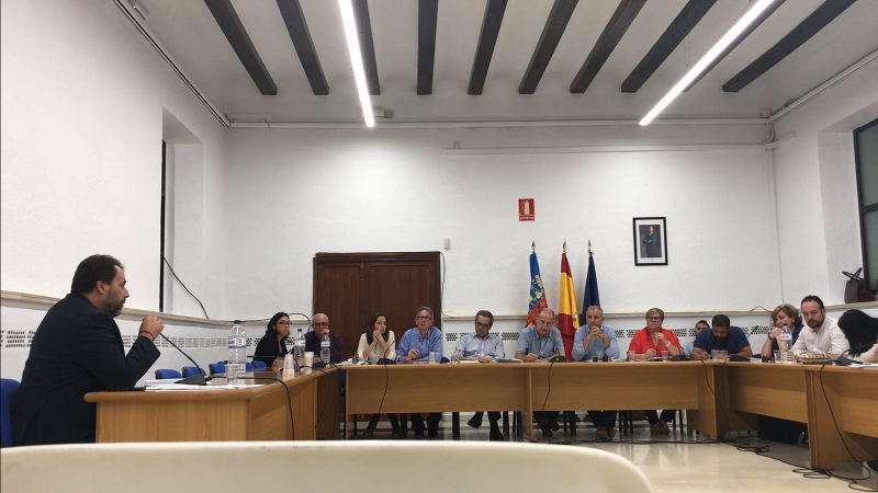 Intervención de Juan José Ramírez en el pleno de Manises. EPDA