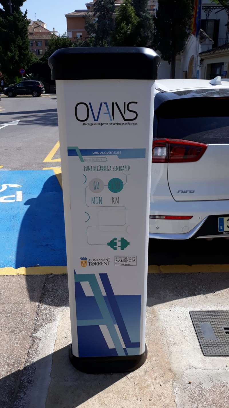 Puesto de recargas de vehículos eléctricos. EPDA