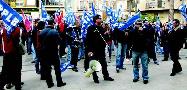 Algunos de los manifestantes. EPDA