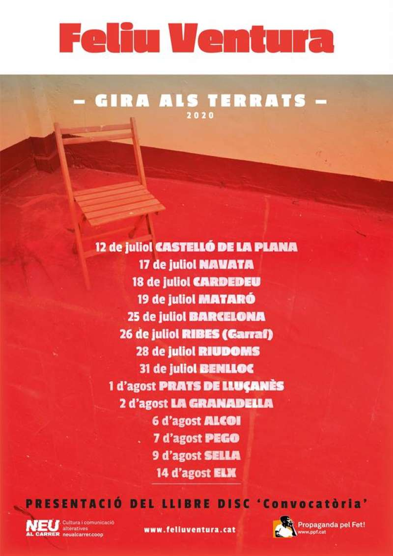 Cartel anunciador de los conciertos cedido por la organización de la gira. EFE