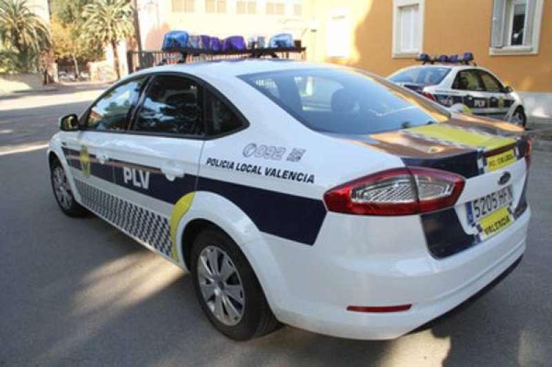 Un coche de la Policía Local de València. EPDA