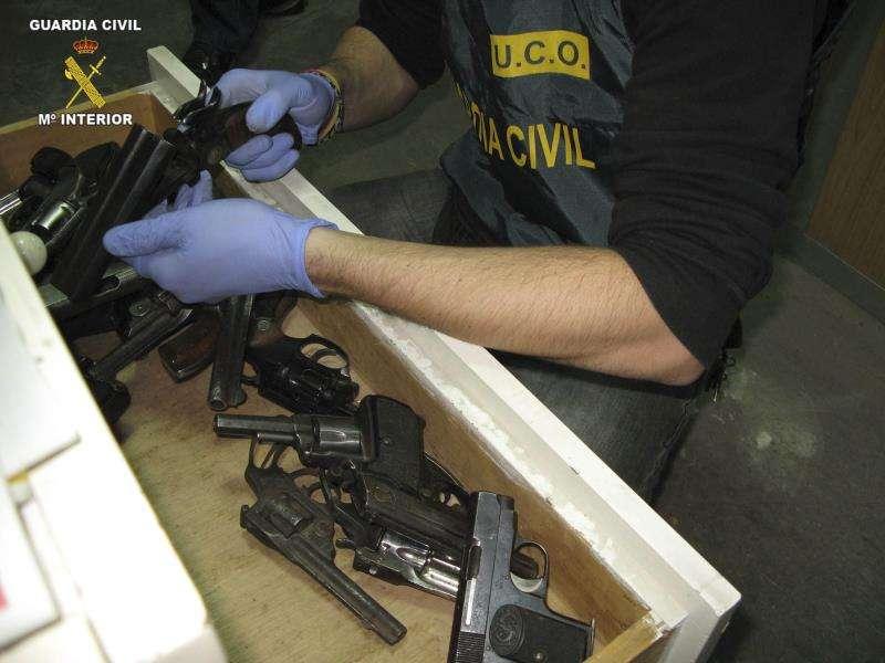 Armas incautadas por la Guardia Civil