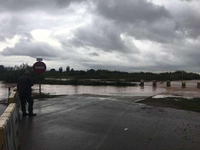 Delta del río Palància inundado. EPDA