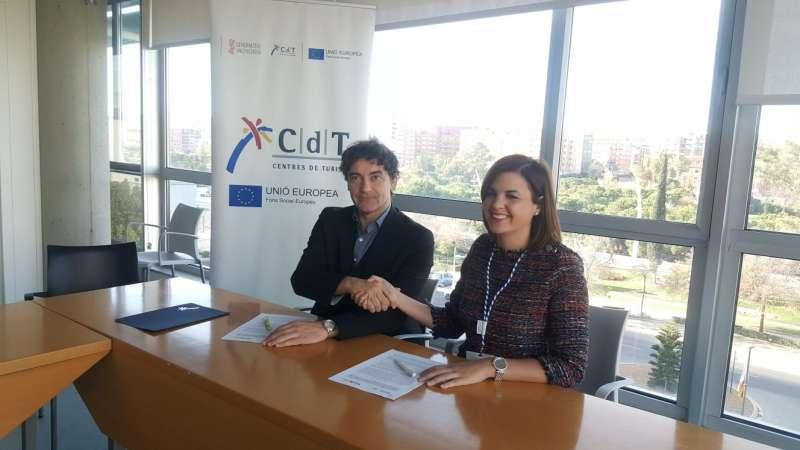 Francesc Colomer y Sandra Gómez.
