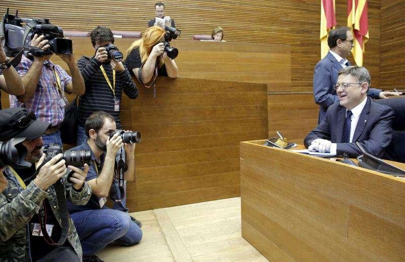 El president de la Generalitat, Ximo Puig, en Les Corts. EFE/Archivo