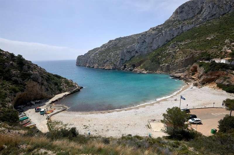 La playa de la Granadella (Xàbia) en una imagen de archivo.EFE