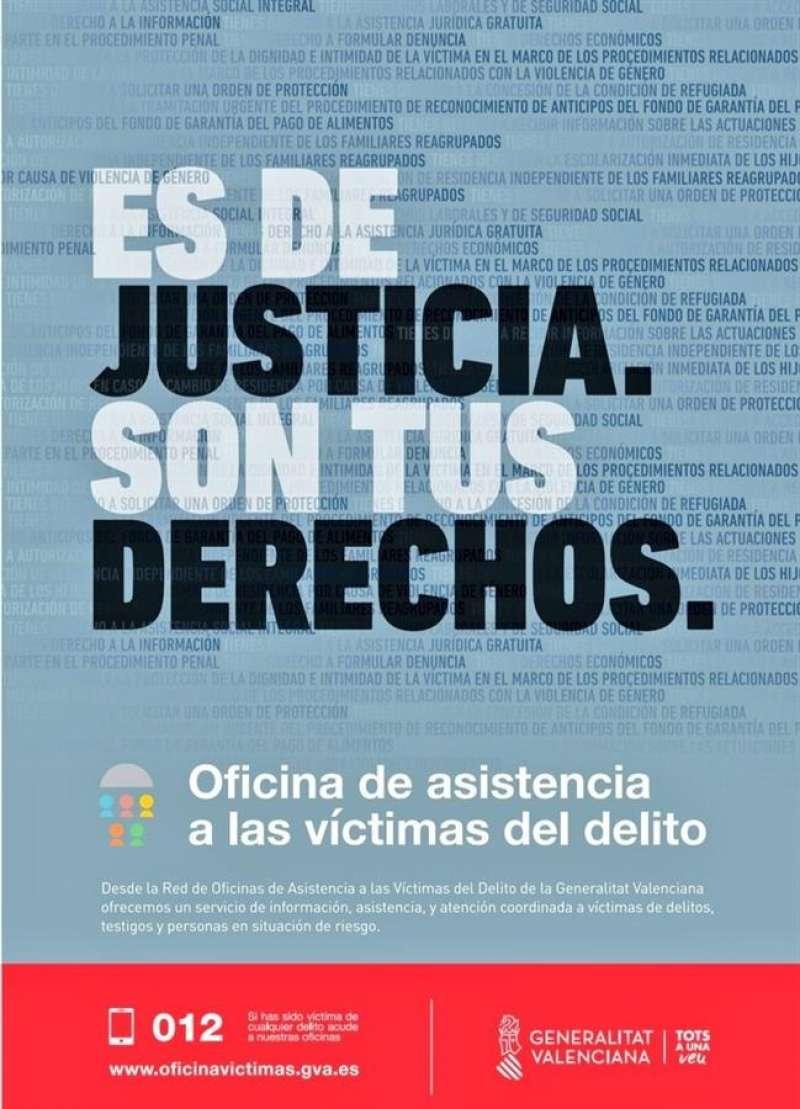 Cartel promocional de la Oficina de Asistencia a las Víctimas del Delito (OAVD)