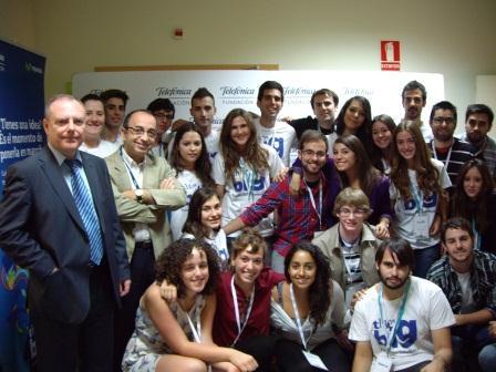 Los jóvenes emprendedores valencianos seleccionados por la Fundación Telfónica. Foto: EPDA