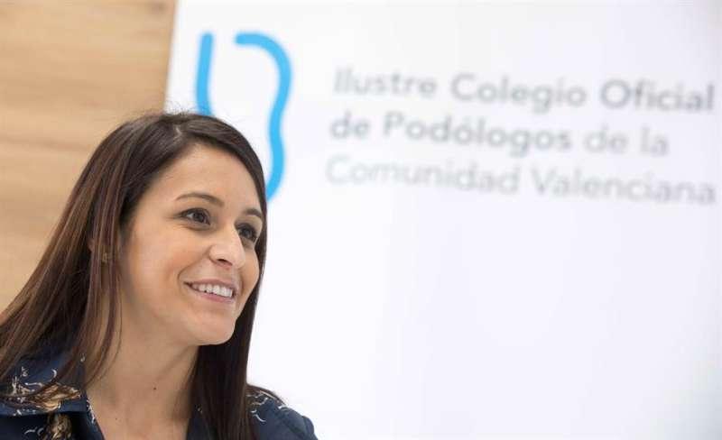 María García, que desde enero de 2017 preside el Colegio de Podólogos de la Comunitat Valenciana. - EFE