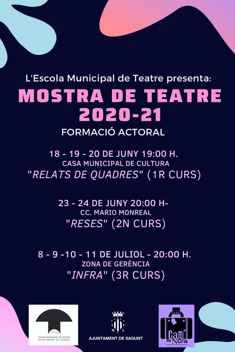 Cartel de Mostra de Teatre. / EPDA