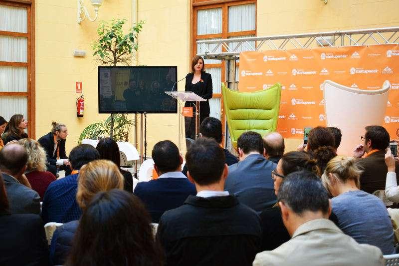 La regidora de Desenvolupament Econòmic Sostenible i Emprenedoria, Sandra Gómez en la la València Startup Wee. EPDA