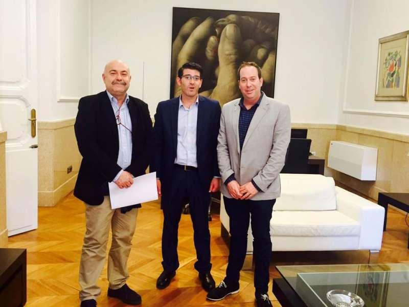 Ibáñez, Rodríguez y Navarro en la Diputación. //EPDA