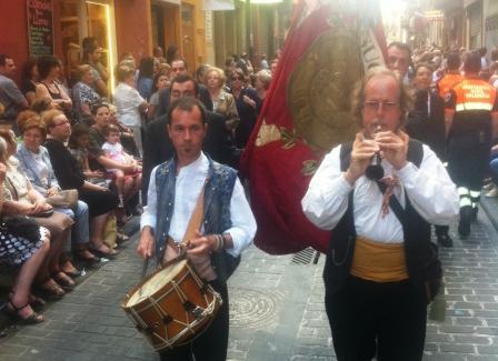 Desfile del Gremio de Confiteros en la procesión de la Mare de Deu. Foto EPDA