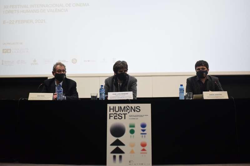 Foto de la rueda de prensa del Humans Fest, que se ha celebrado esta mañana, en la Filmoteca de València.