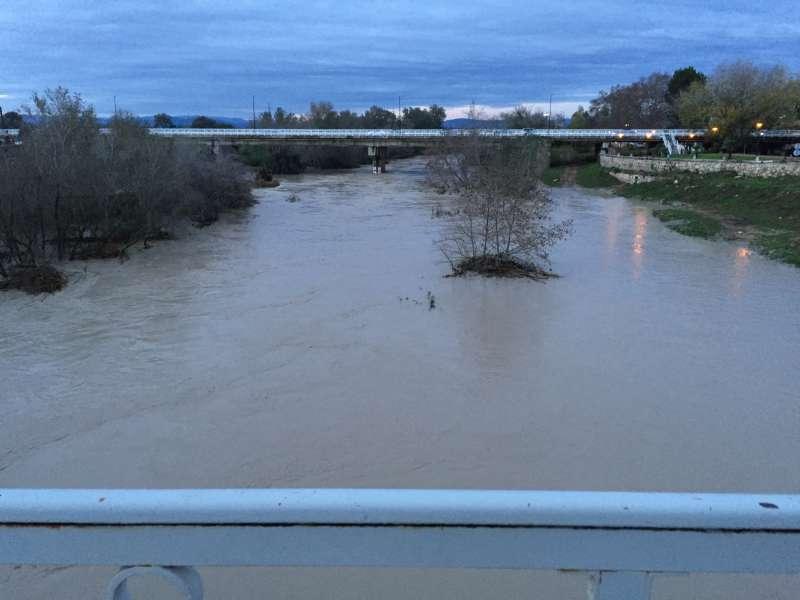 El riu Xúquer al seu pas per Alzira. EPDA