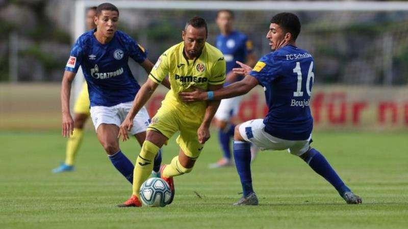 Momento del partido, en una imagen del Schalke 04 difundida por el Villarreal CF. EFE