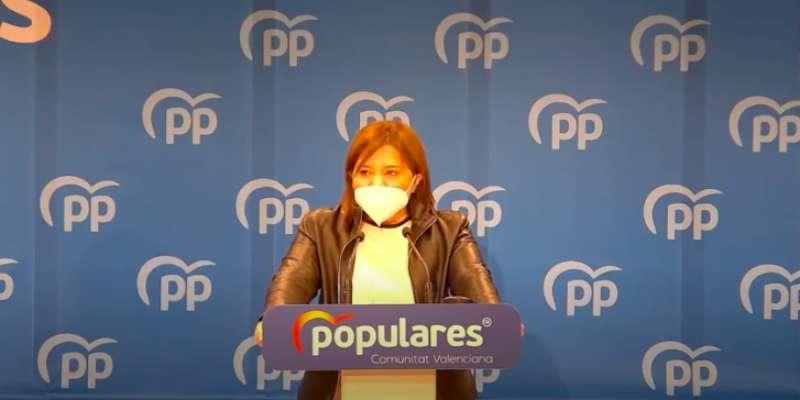 Isabel Bonig hoy durante su discurso. EPDA