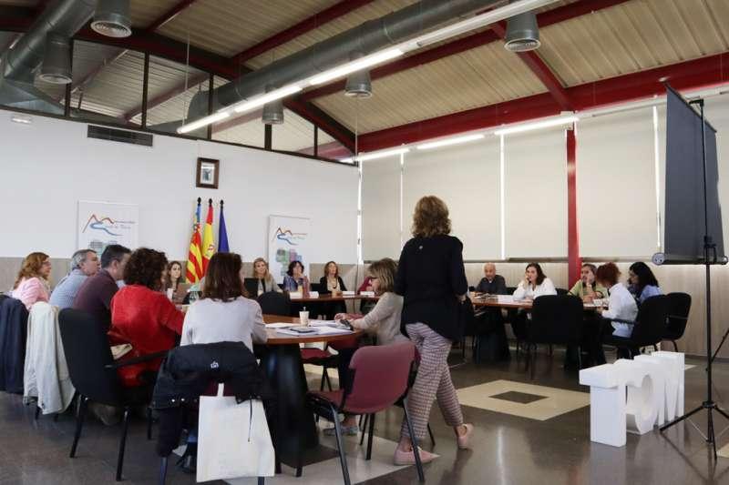 Instant de la reunió en la Mancomunitat. / EPDA