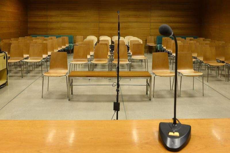 Una sala de la Audiencia Provincial de Alicante.