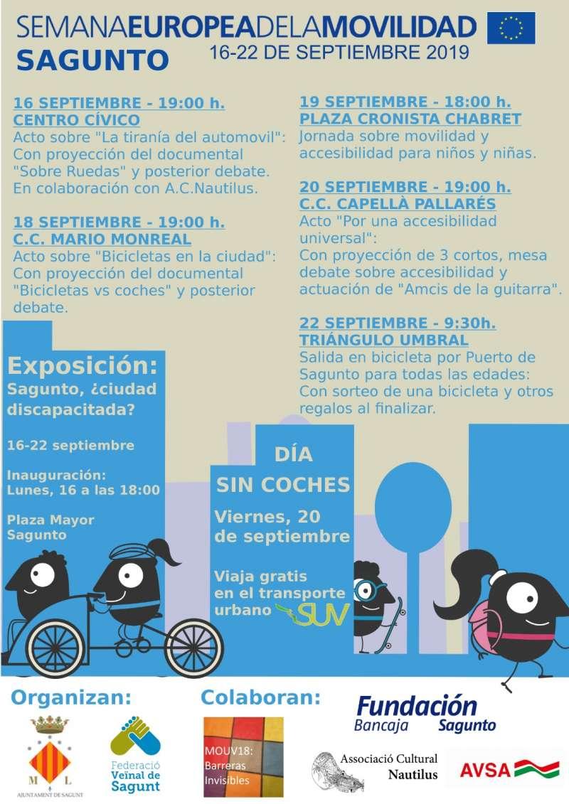 Programa de la Semana Europea de la Movilidad. EPDA