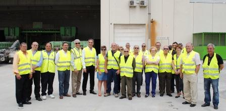 Visita a la planta de tratamiento de residuos de Fontcalent.