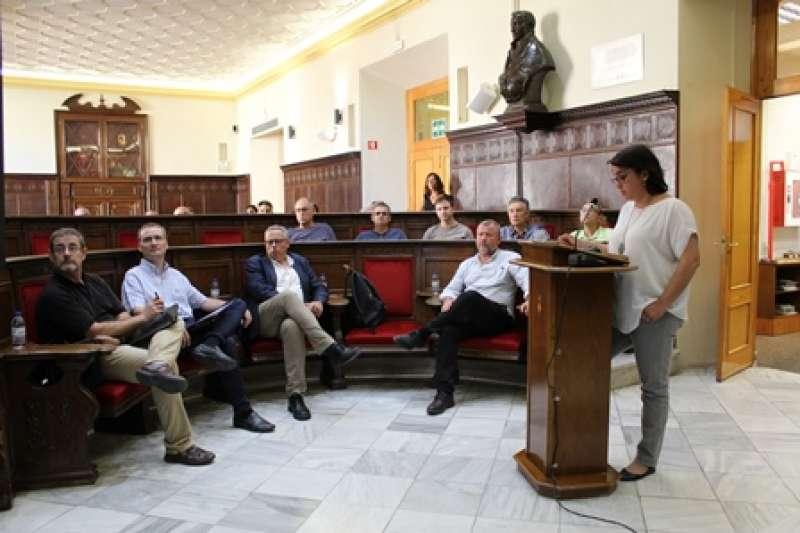 La concejala Natalia Antonino, en la presentación del plan. EPDA