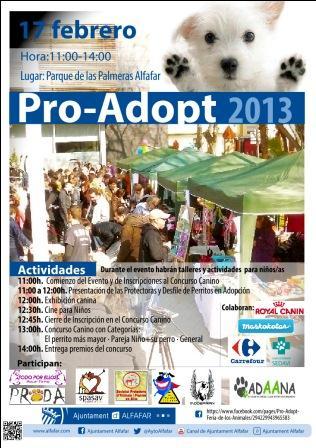 Cartel del evento Pro-Adopt.