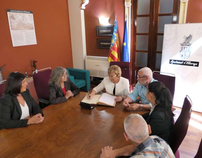 Visita de la consellera a Alboraia. EPDA