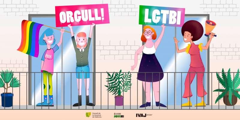Cartel que conmemora el Día Internacional del Orgullo LGTBI 2020