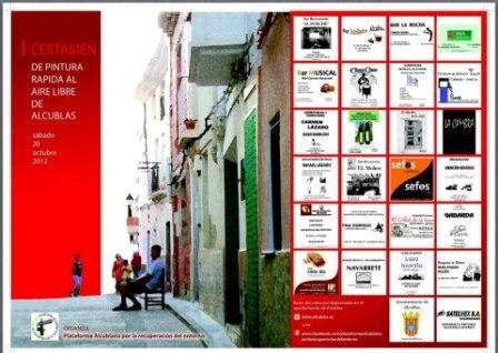 Cartel del Certamen de Pintura Rápida de Alcublas. Foto EPDA
