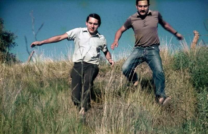Omar Darío Amestoy i Mario Alfredo Amestoy en una de les fotografies del projecte