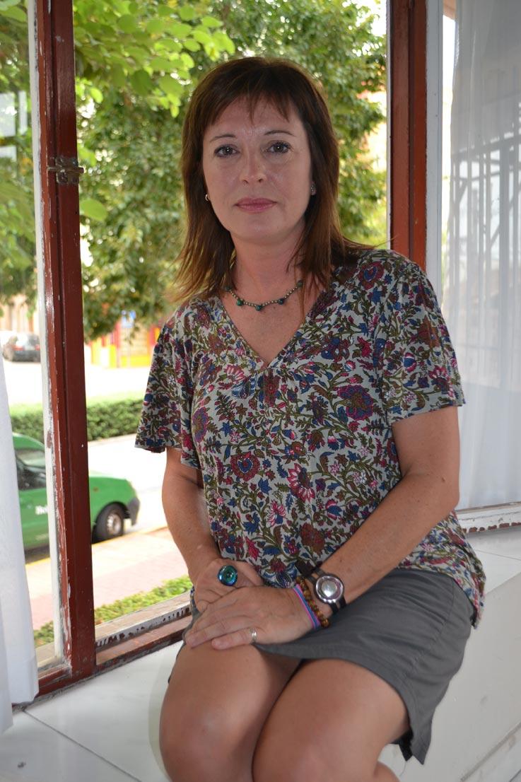 Mónica, durante la entrevista concedida a El Periódico de Aquí. FOTO P. V.