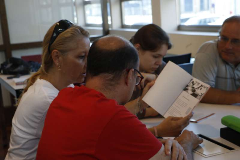 Participantes del Club de Lectura Fácil. EPDA