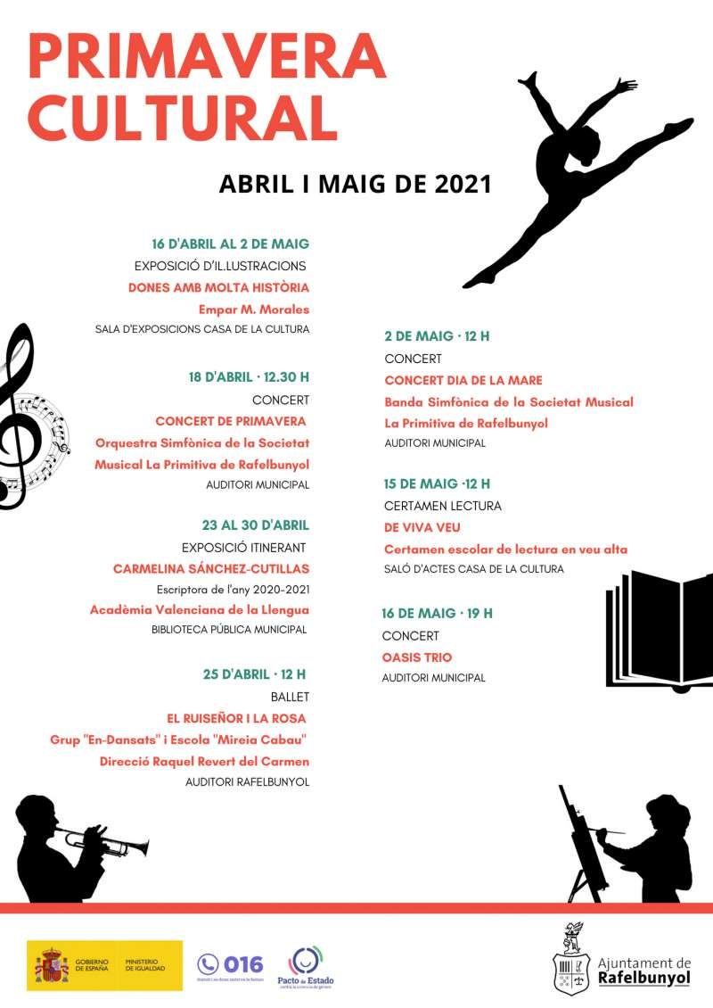 Cartel primavera cultural. EPDA