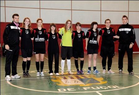 Equipo de fútbol sala femenino de Puçol. FOTO: EPDA.