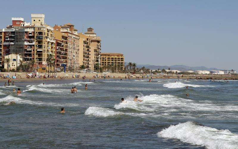 La playa de Alboraya. EFE