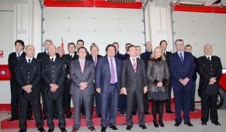 Inauguración del parque de bomberos del Baix Maestrat, en Benicarló. Foto EPDA
