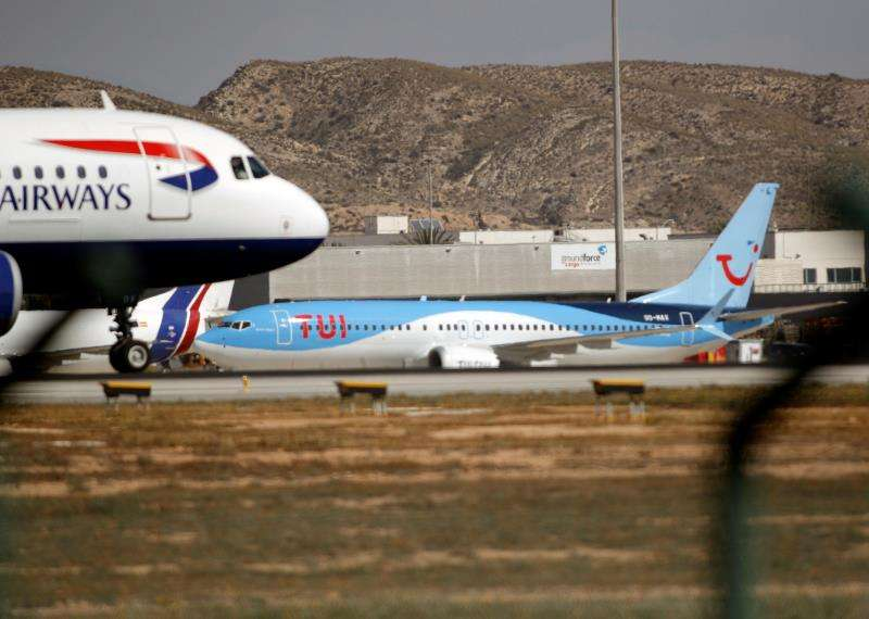 El Boeing 737 MAX procedente de Banjul . EFE
