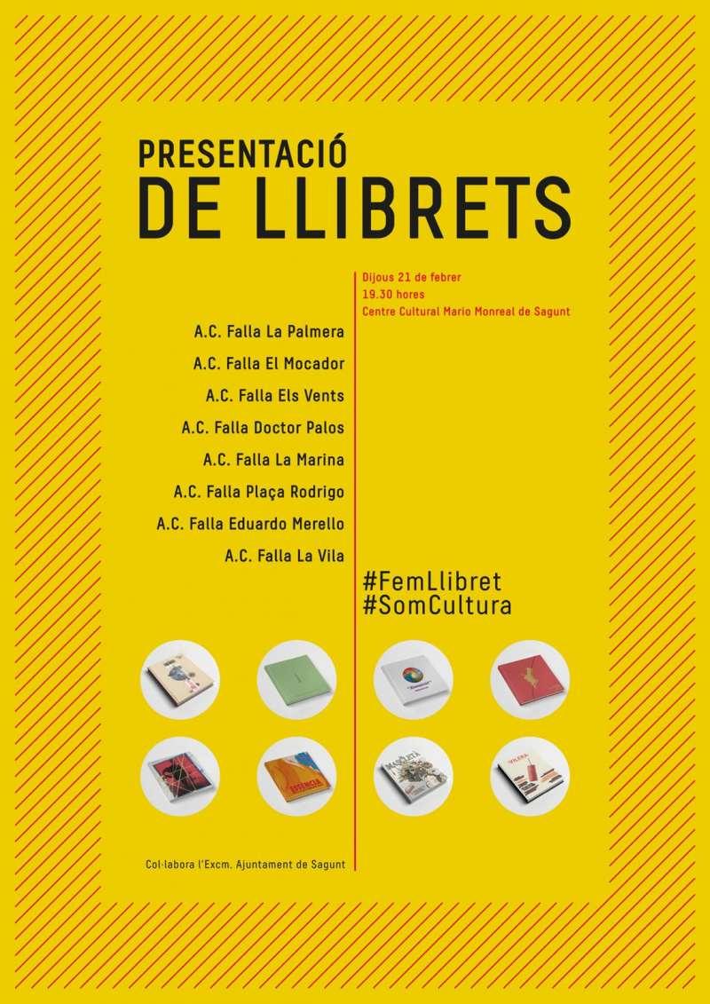Cartel del acto de presentación de los llibrets de las ocho comisiones de Sagunt. EPDA