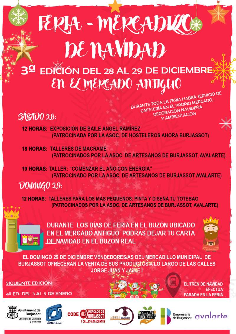 Cartel de la Feria-Marcadillo de Navidad. EPDA