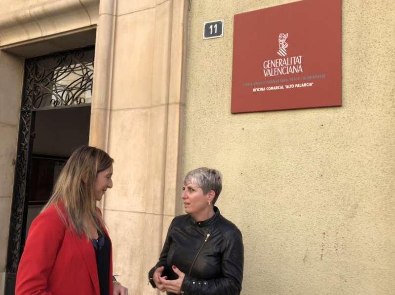 Elena Vicente Ruiz y Ángeles Gómez en la OCAPA