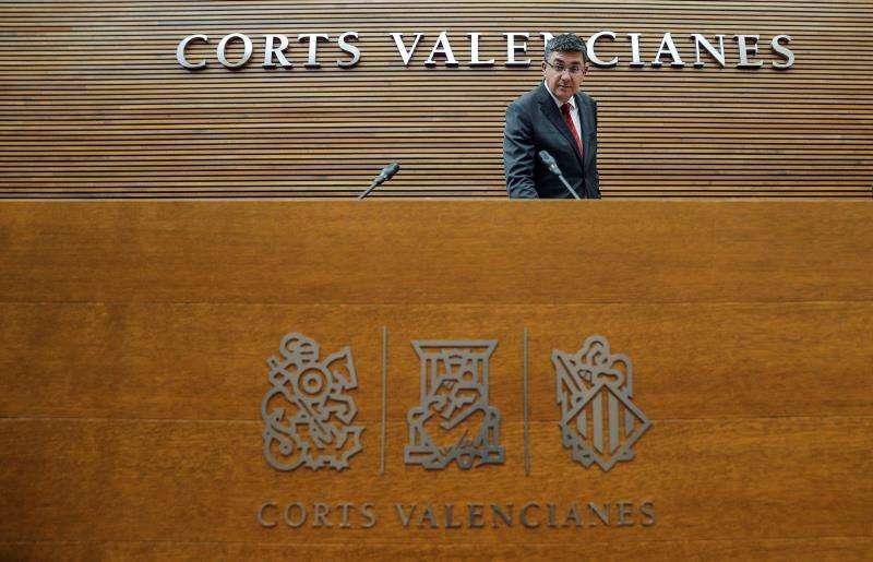 El president de Les Corts, Enric Morera, al comienzo de un pleno. EFE/Archivo
