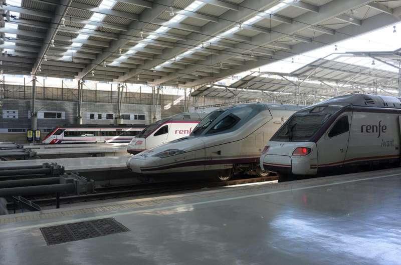 Trenes de RENFE en la estación. EPDA